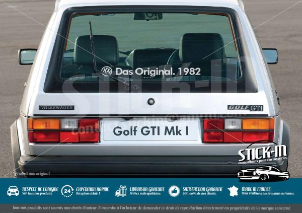 "Volkswagen Autocollants Stickers ""Das Original.[Année/Year]""Golf GTI Combi Cox Old"
