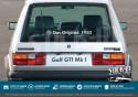 Volkswagen Autocollants Das Original Année Golf GTI