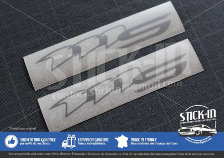 Lotus Elise 111S S2 2 Stickers Decals Sides Repeater Lamp Silver Grey
