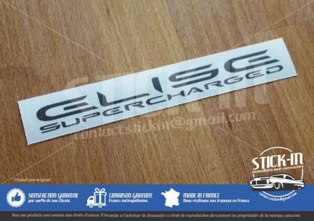 Lotus Elise Supercharged SC Autocollant Gris Anthracite ou gris argent