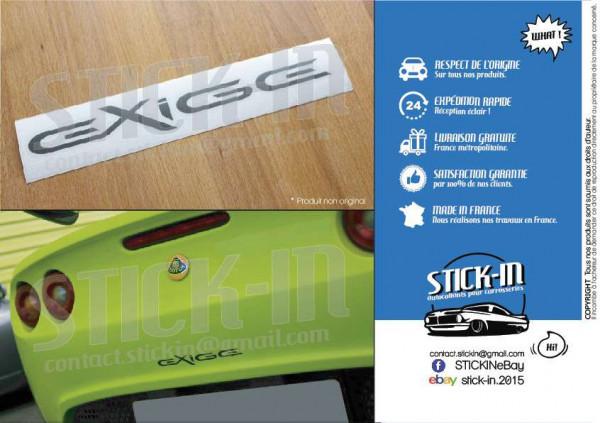 Lotus Exige S2 Autocollant Stickers gris anthracite masque arrière