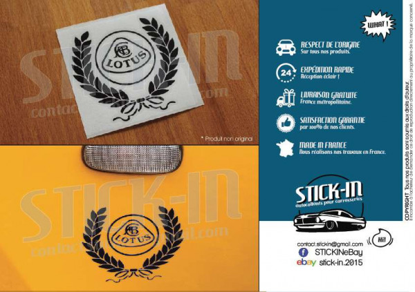 Lotus Elise S2 Autocollants Stickers Heritage Couronne Laurier