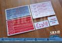 5 Autocollants Stickers Peugeot 205 GTI 1.6L 105 Compartiment Moteur