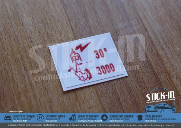 Stickers Peugeot 205 GTI 1.6 115 30/3000 Air Flow Meter