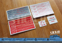 5 Autocollants Stickers Peugeot 205 GTI 1.6 1.9 Compartiment Moteur