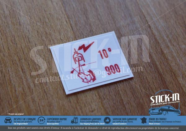 Stickers Peugeot 205 GTI 1.9 130 10°900 Air Flow Meter
