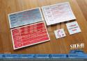 5 Autocollants Stickers Peugeot 205 GTI 1.9 130 Compartiment Moteur