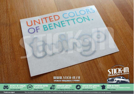 Stickers Renault Twingo 1 United Colors Of Benetton Decals