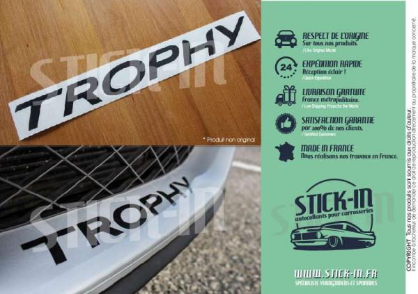 Stickers Autocollant Megane 3 RS TROPHY 265 275 Parechoc Renault Sport