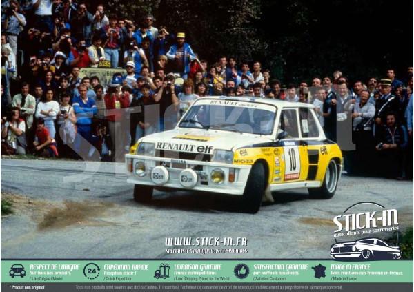 Kit Décoration Autocollants Renault 5 Turbo Tour de Corse Rallye Ragnotti 1983 1984