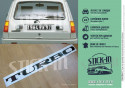 Stickers TURBO Renault 5 R5 Maxi 2 rear windows decal Alpine