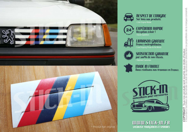 Stickers Decals PTS Stripes Peugeot 205 309 405 GTI Rallye