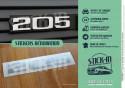 Autocollant Stickers Peugeot 205 Renovation Monogramme Rape