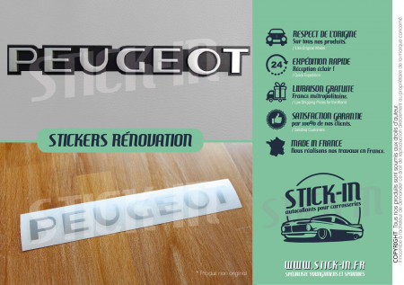 Stickers Peugeot 106 205 309 GTI Renovation Rear Monogram Badge