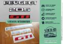 Renovation stickers Logos Badges Rear Monograms Peugeot 205 GTI decals