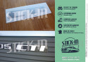 Renovation Logo Badge Rear Monogram Sticker Peugeot 205 CTI Convertible