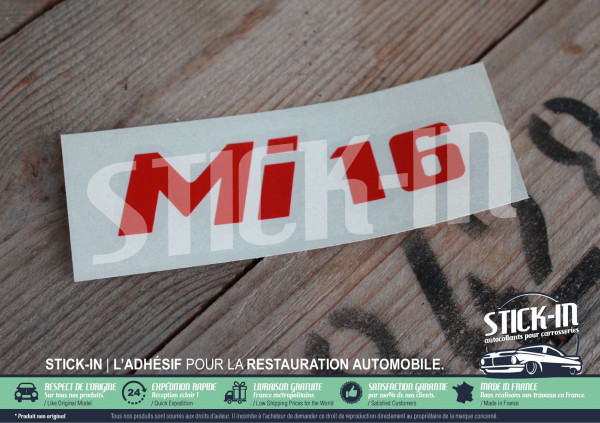 Peugeot 405 mi16 Sticker Renovation Rear Monogram Decal Logos Badge