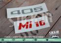 "Renovation Logos Badges Monogrammes Peugeot ""405 Mi16"" Autocollants Stickers"