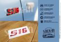 Repair kit stickers Peugeot 106 306 S16 Renovation Monogram Logo Badge